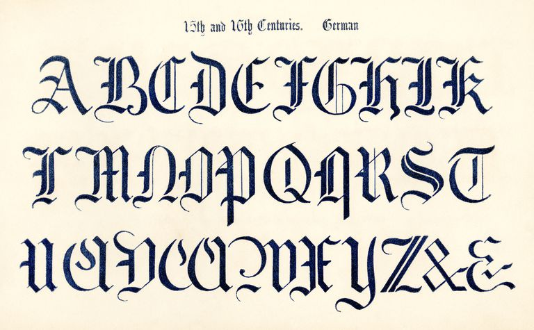 Alphabet In Germany Blackletter Font