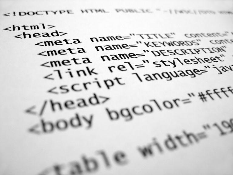 Screenshot of HTML meta name code