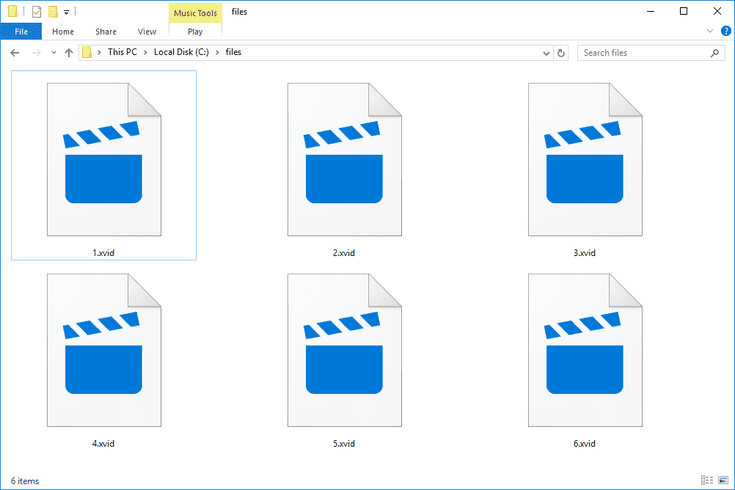 xvid video codec may be required