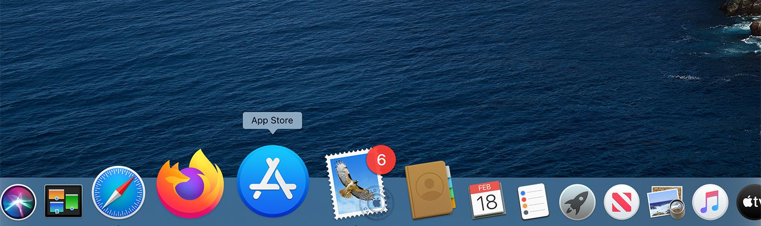The App Store icon on the Mac Dock