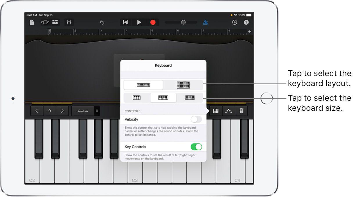 GarageBand Piano instructions