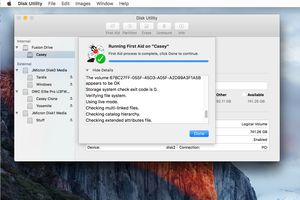 Disk Utility's First Aid