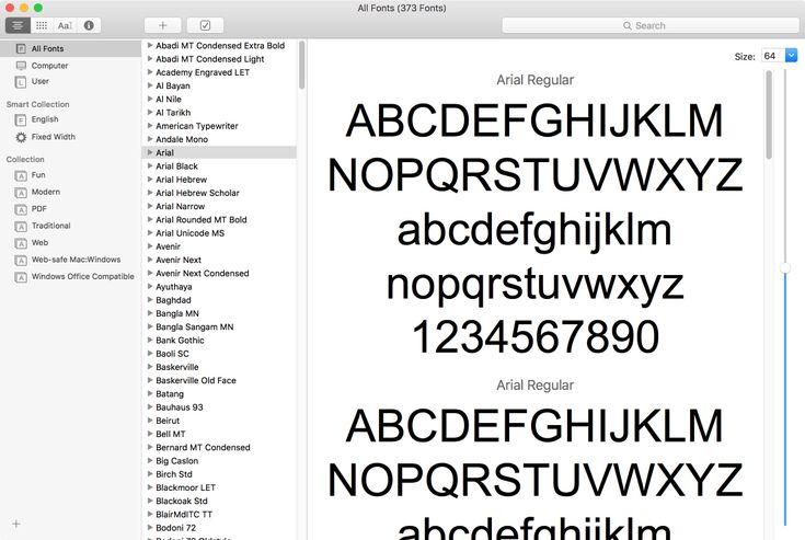 photoshop fonts list
