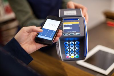 Customer making NFC payment