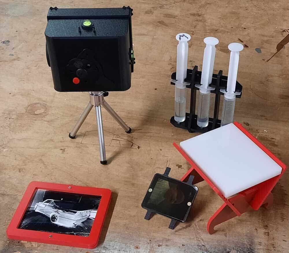 The Pinsta camera setup.