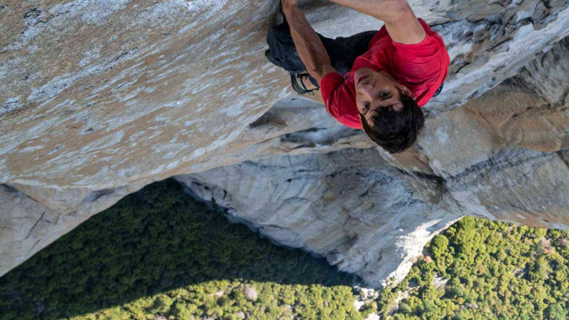 Alex Honnold climbing El Capitan in Free Solo (2018)
