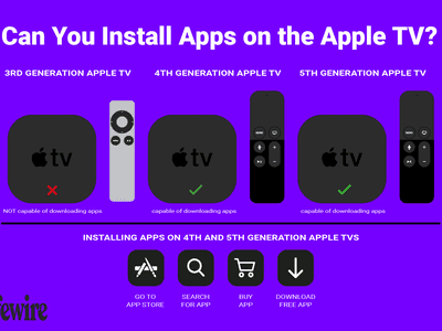 Illustration showing which apple tv models you can install apps on.