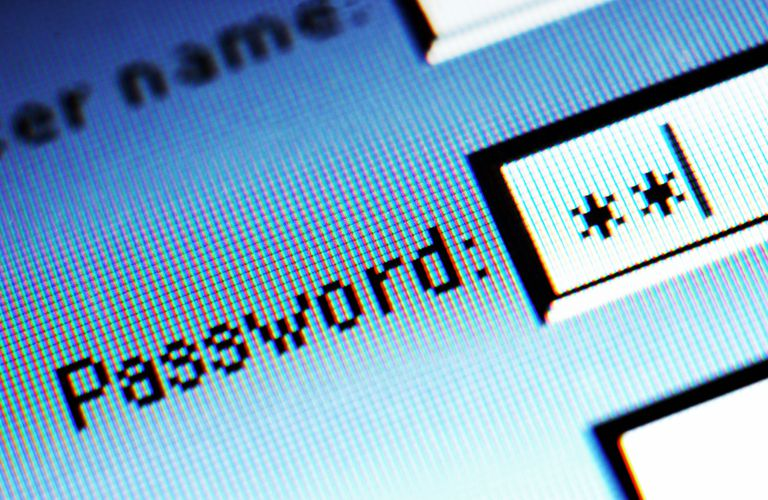 Strong, secure password field on computer screen