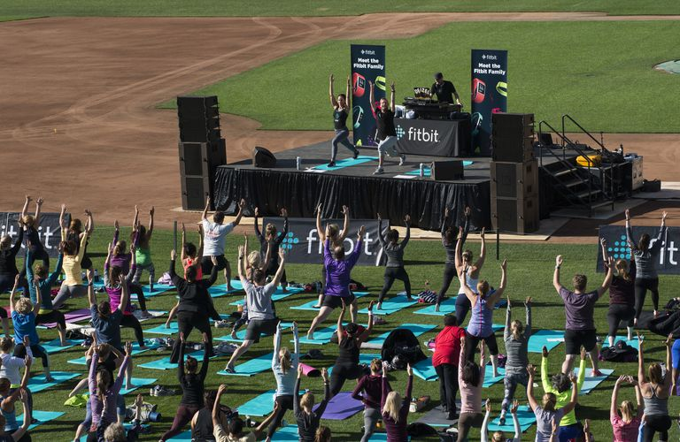 A Fitbit Community outdoor exercise class