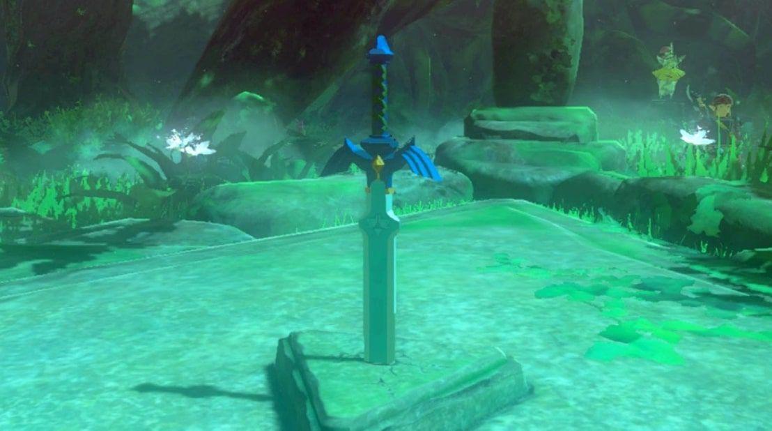 The Master Sword in Zelda BOTW
