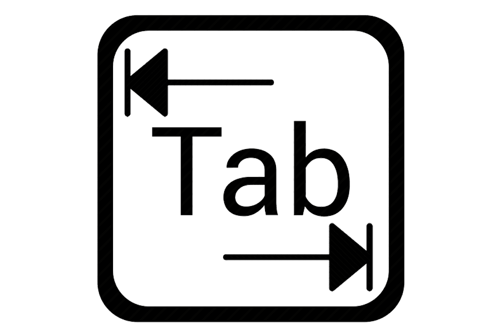 Illustration of the tab function
