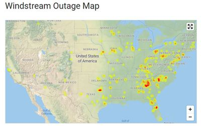 Windstream outage map