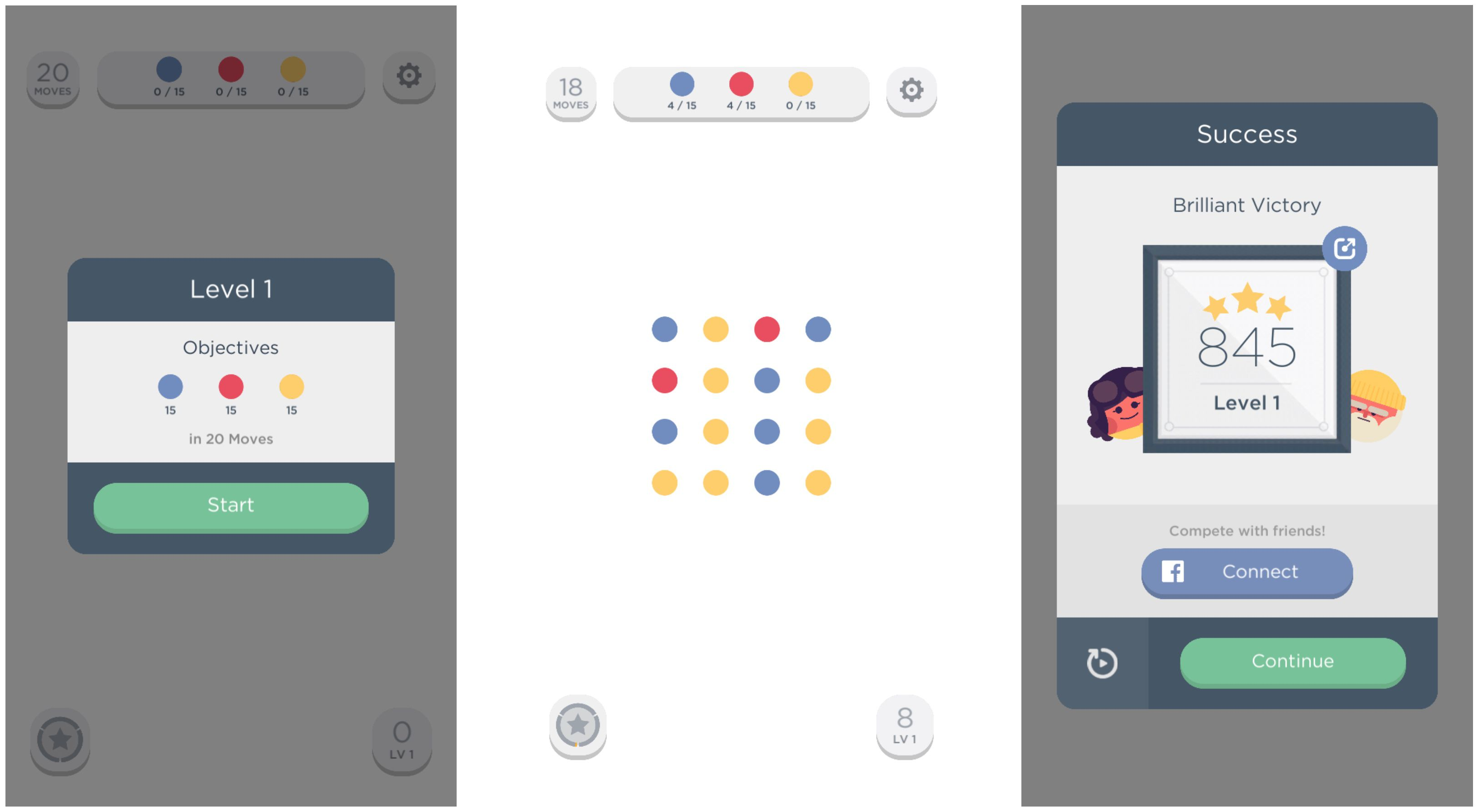 Two Dots is a challenging matching game