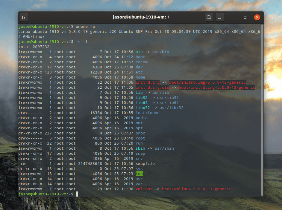 root directory list ubuntu