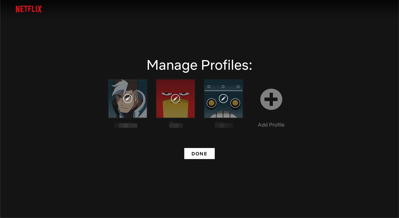 Manage Profiles on Netflix