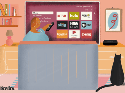 Person watching Netflix on a non-smart TV