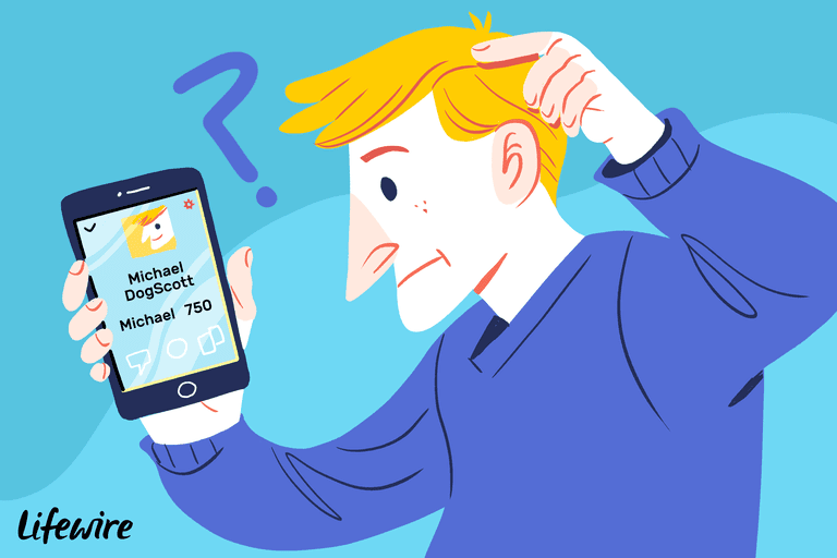 Confused person looking at their Snapchat scores on a smartphone