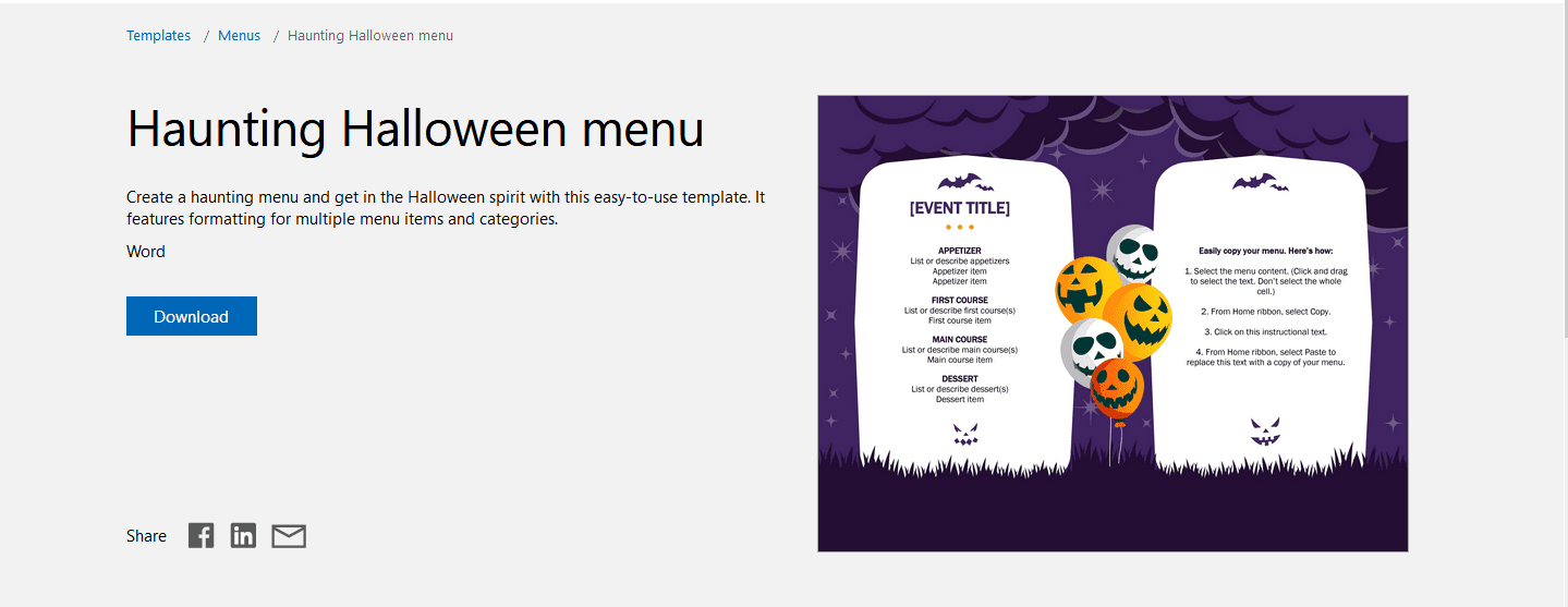 21 Free Halloween-Themed Templates for Microsoft Word With Free Halloween Templates For Word