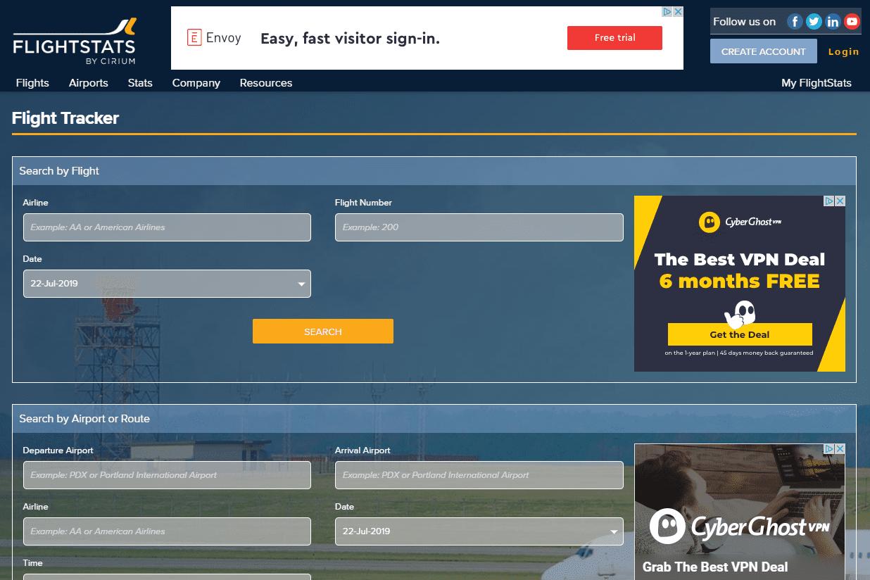 FlightStats website