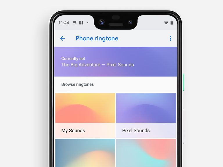 Pixel 3 XL with Phone ringtone screen
