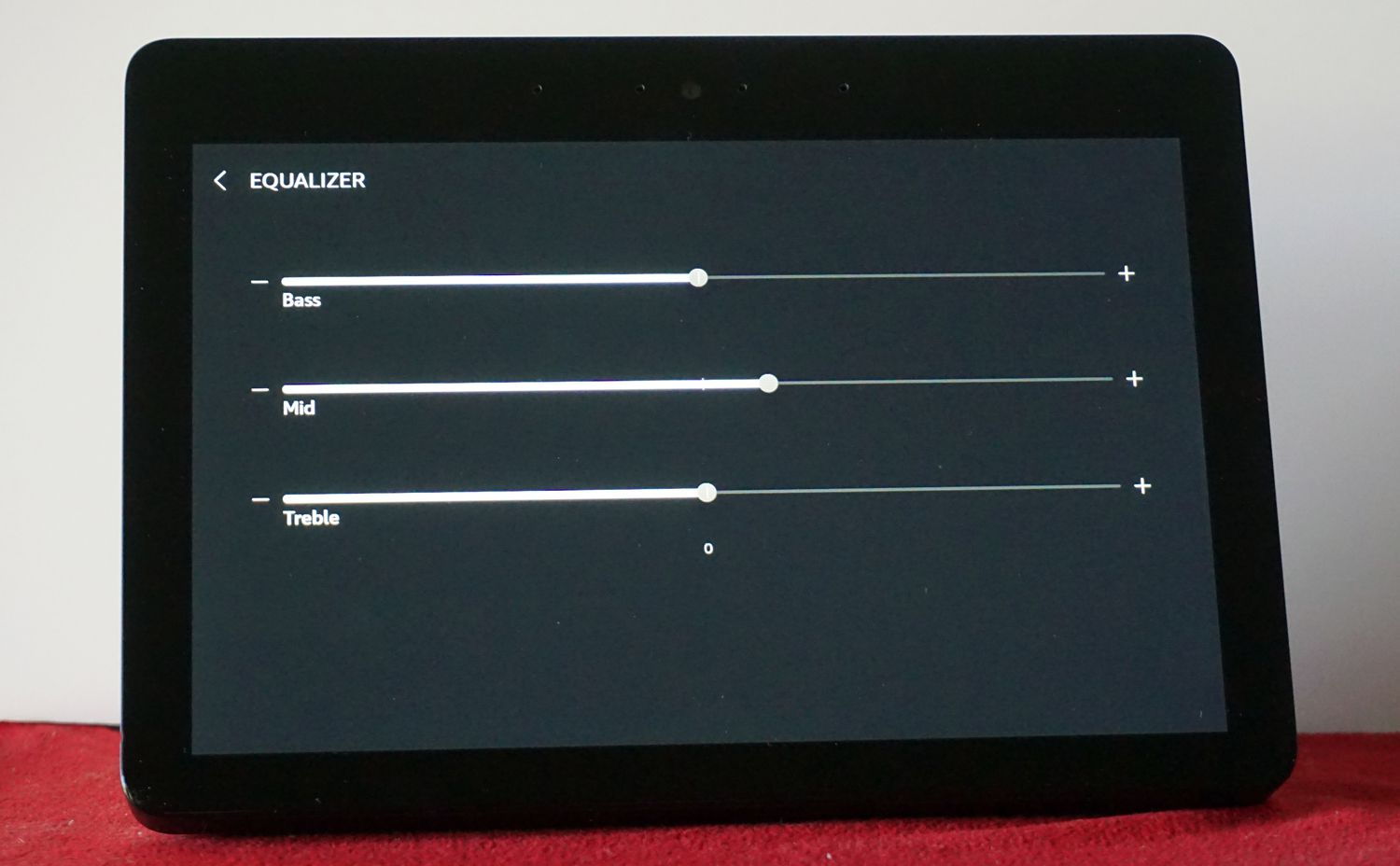 Amazon Echo Show — Sound Settings