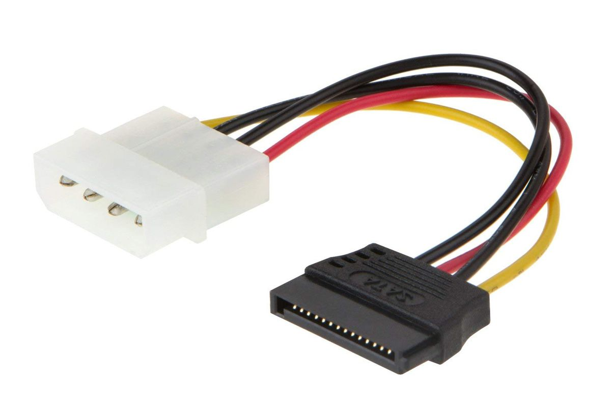 What Is A Sata Cable Or Connector Extension Cord Replacement Plug Terminal Picture Of Molex To Adapter From Cablecreation