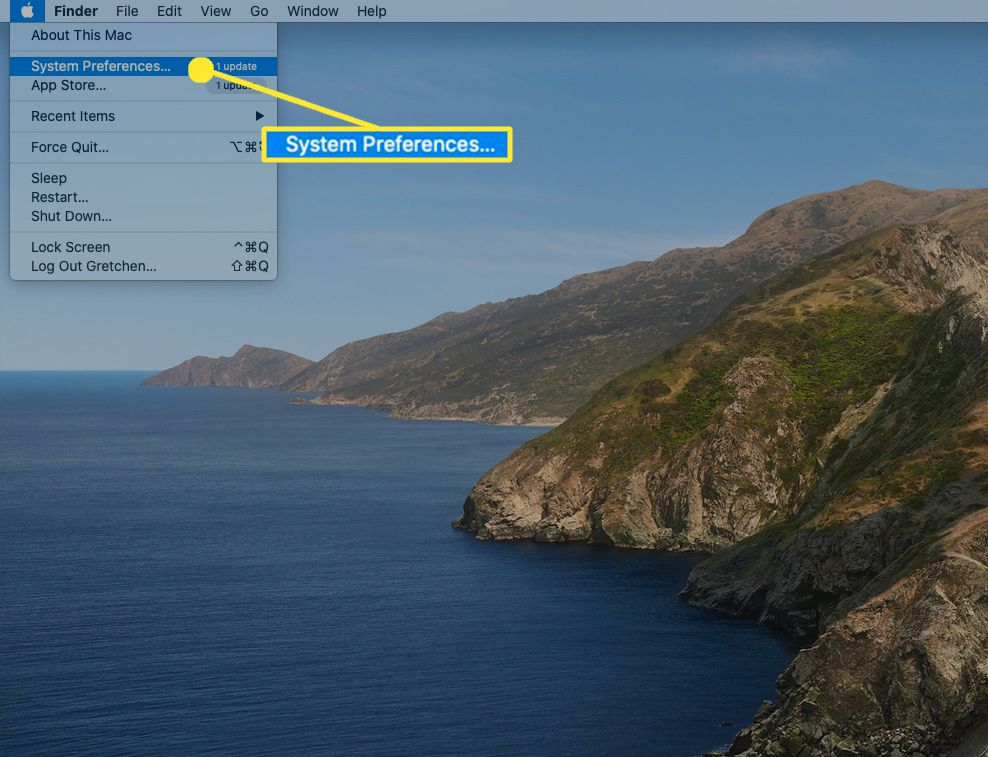 From the Apple menu, open System Preferences.