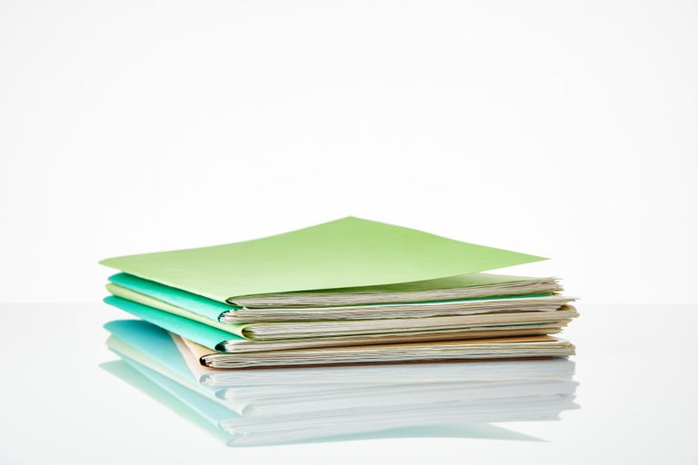 A stack of files in folders