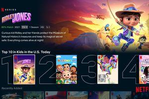 Netflix Kids Top 10 row
