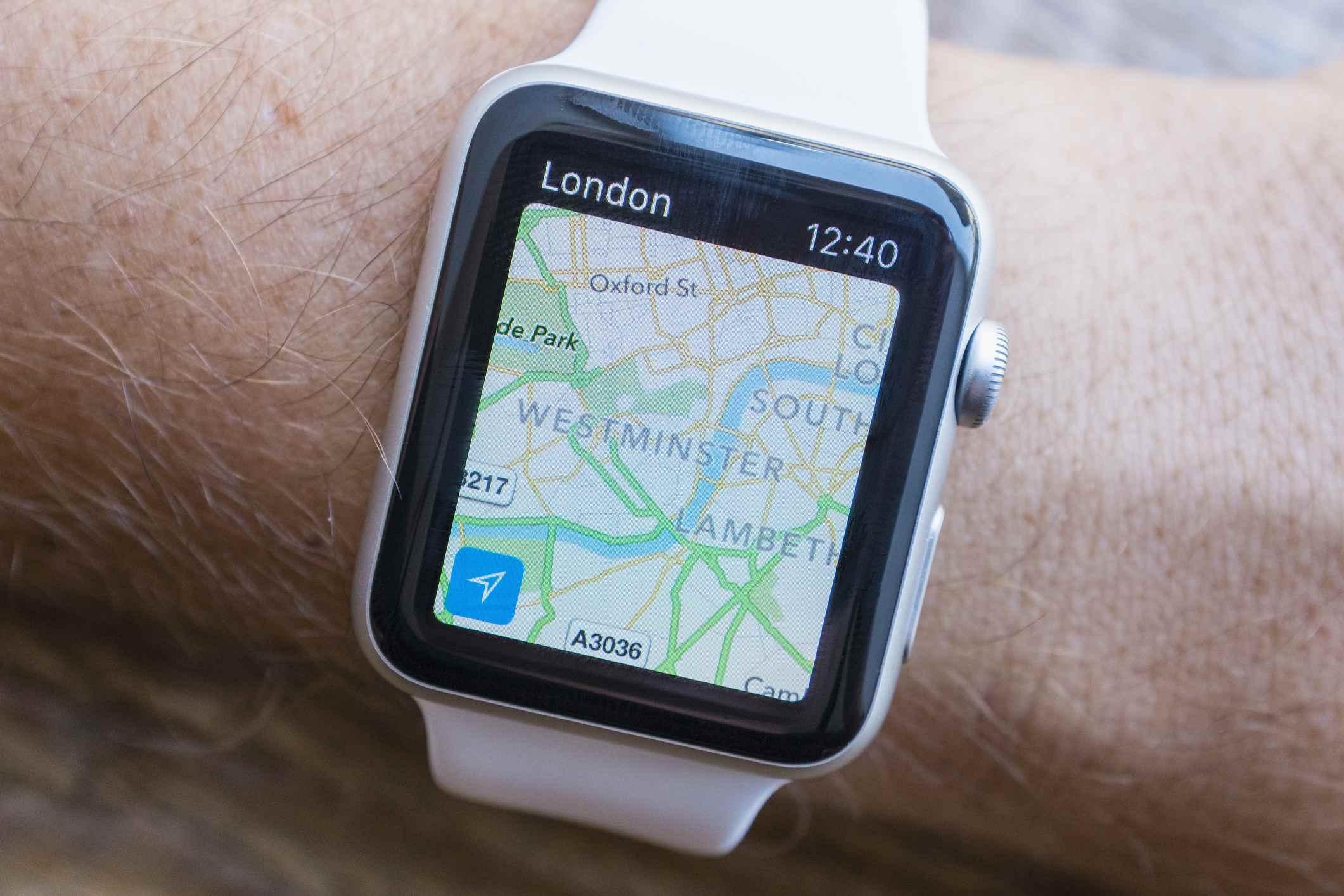 Apple Maps on an Apple Watch