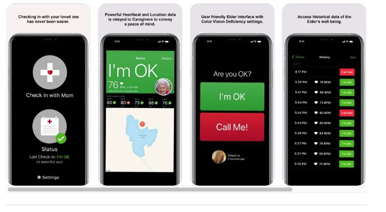 ElderCare Now app for iPhone