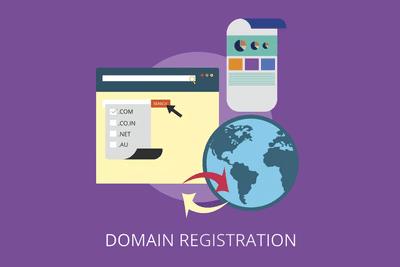 DDNS illustration of world and website