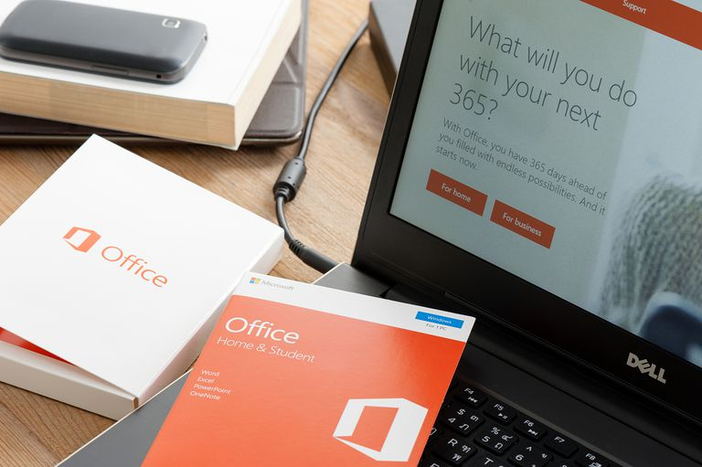 Microsoft Office software box