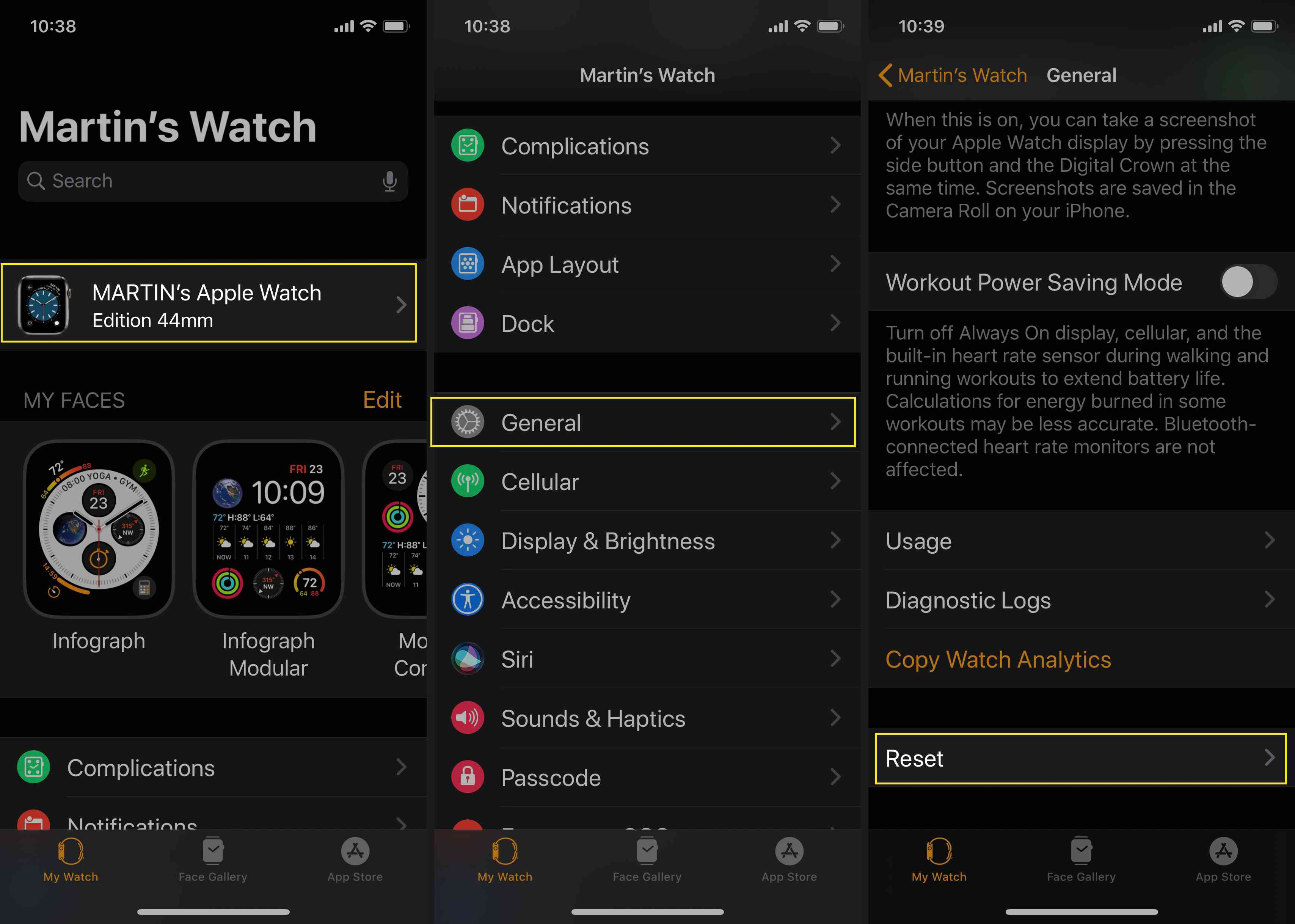 Use the Apple Watch to reset your device and remove the passcode