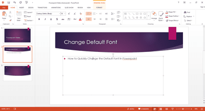 Create a default powerpoint presentation template how to quickly change the default font in powerpoint toneelgroepblik Image collections