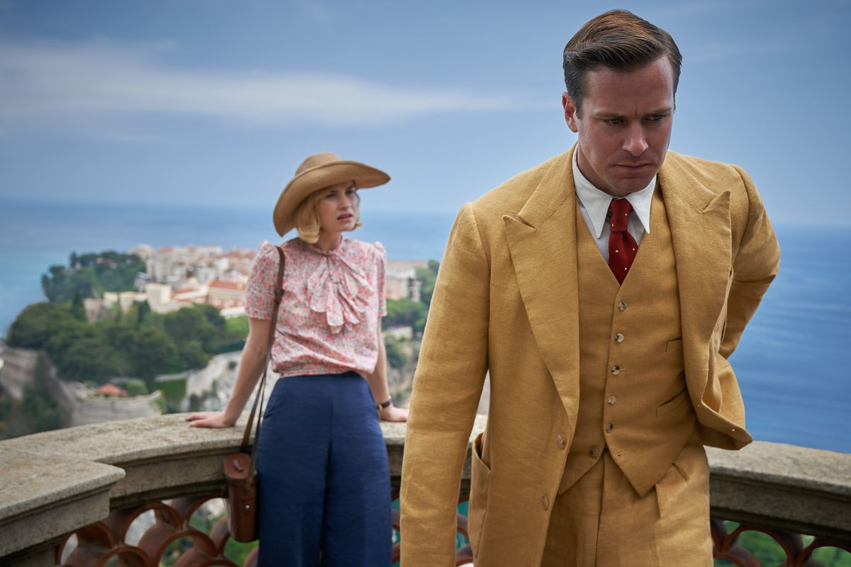 Lily James and Armie Hammer in Rebecca 2020