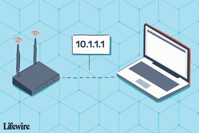 Illustration of a wireless router and a computer with the IP 10.1.1.1 between them