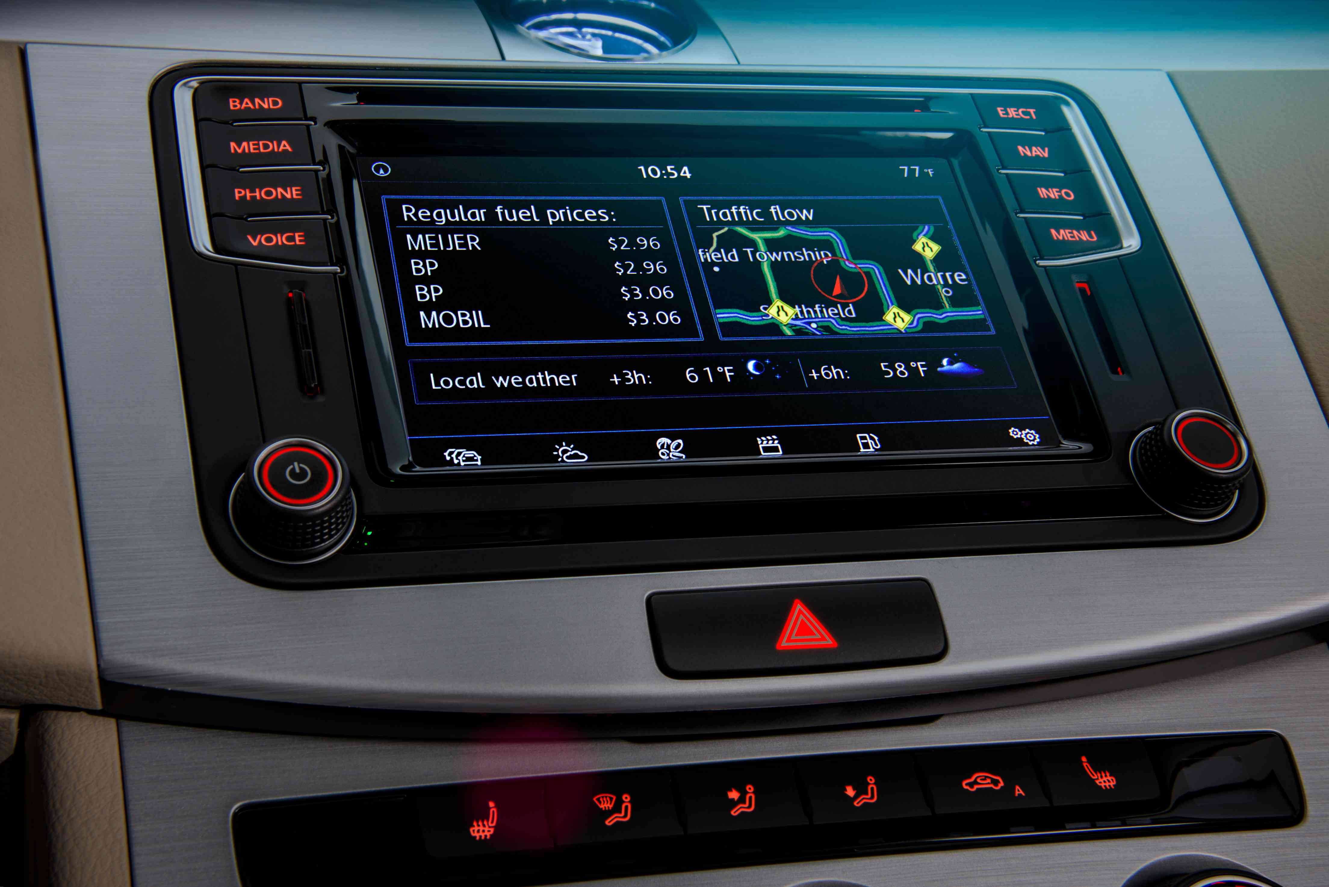 Volkswagen Travel Link with integrated Sirius radio.