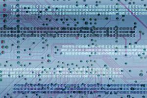 Circuit Board and Binary Digits