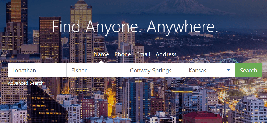PeopleFinders search boxes