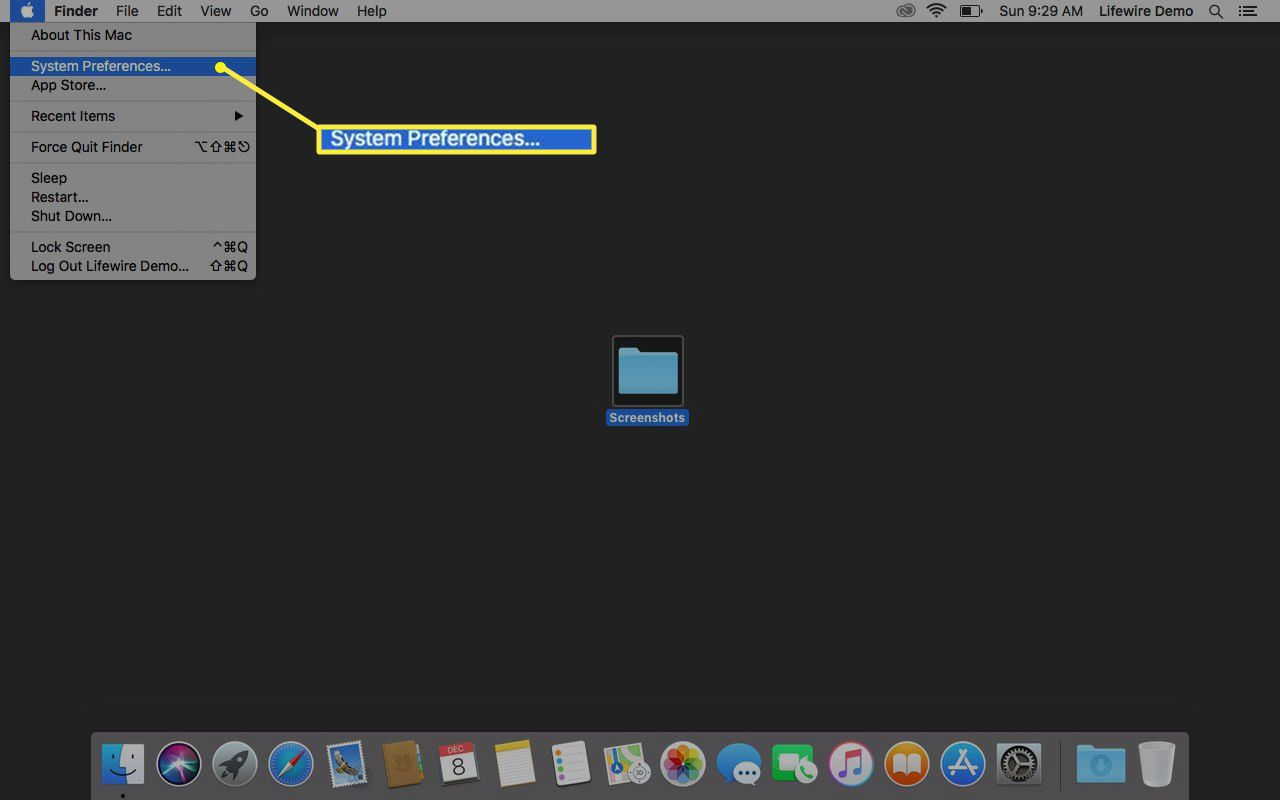System Preferences in MacOS