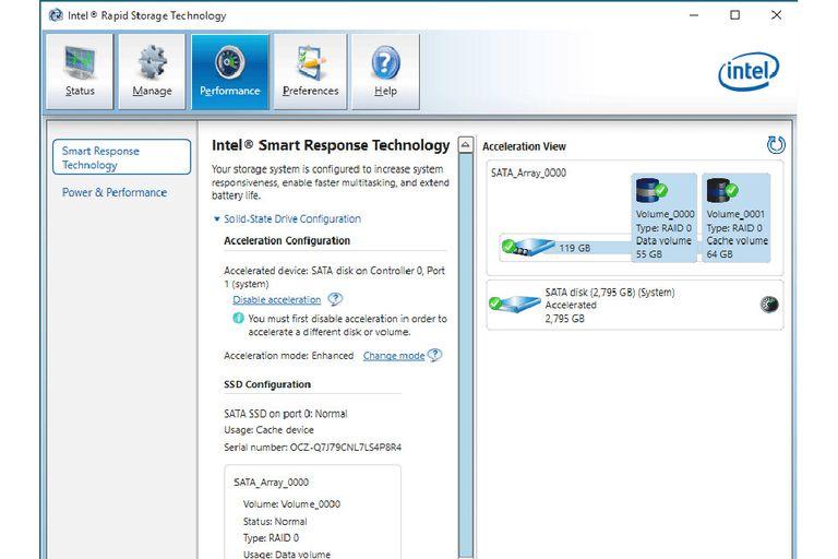 Intel Smart Response Technology Performance Evaluation