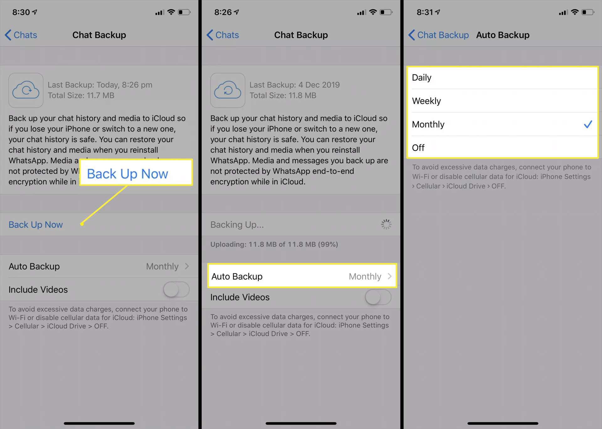 How To Create A Whatsapp Backup