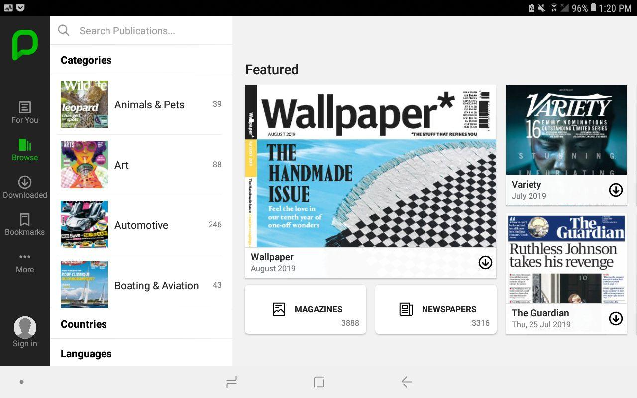PressReader app for Android