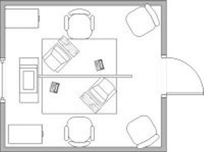 Centered desk layout