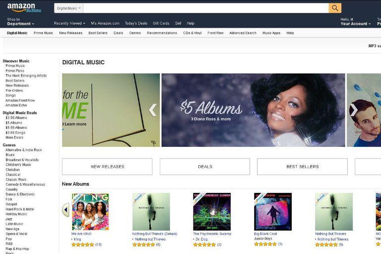 Screenshot of Amazon Music