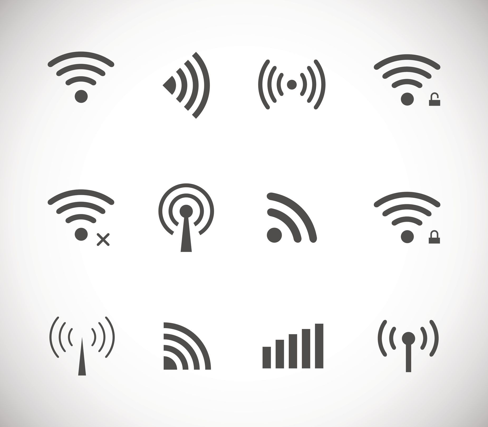 Different Wi-Fi icons