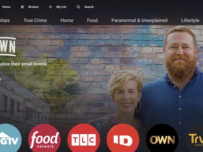Discovery Plus homepage.