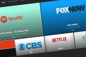 Video apps available on the Xbox.