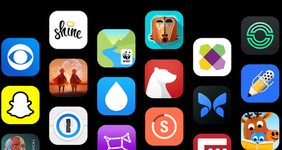 A variety of App store apps, including SnapChat, CBS, and Wayfair
